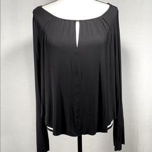 American Eagle Soft & Sexy Bell sleeve Tee M black